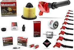 Tune Up Kit 1999 Ford F250 Super Duty V10 6.8l High Performance Coil Dg508 Sp479