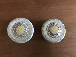 Two New Vintage Mackenzie Childs King Ferry Drawer Knobs