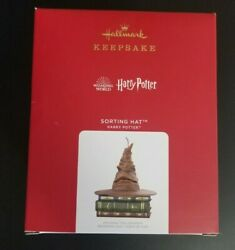 2021 Hallmark Harry Potter Sorting Hat Magic Sound And Motion Ornament Brand New