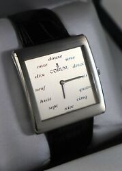 New Vintage Menand039s Corum Buckingham Manual Watch 17 Jewels French Indices