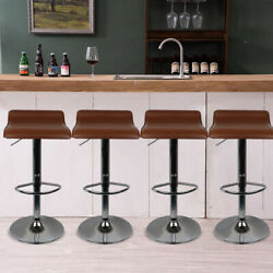 Bar Stools Sets Adjustable Height Pu Leather Counter Swivel Dining Bar Chairs