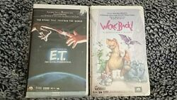 Stephan King Movies Lot Of 2 Vhs/clam Shell E.t. And We're Back A Dinosaur Movie