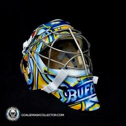 Ryan Miller Unsigned Goalie Mask Buffalo Classic V1 Blue And Yellow Edition