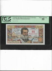 France Scwpm No.139b Nd F-54/2 5.3.1959 50/5k Francs Choice About New 55
