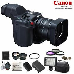 Canon Xc10 4k Professional Camcorder 0565c002 +64gb Memory Card, Extra Battery