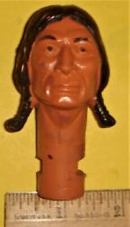 Chief Cherokee Head Replacement Part Marx Johnny West Customizing Eagle Geronimo