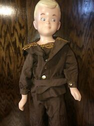 Vintage 40s 50s Buster Brown Advertising Store Display Mannequin Doll Antique