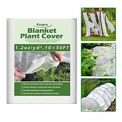 Plant Covers Freeze Protection 10ft X 50ft Reusable Floating Row Cover 1.2 Oz/