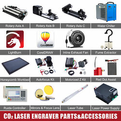Co2 Laser Engraver Accessories - Water Chiller Laser Tube Rotary Axis Coreldraw
