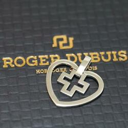 Roger Dubuis Heart X Cross Pendant Top Charm Jewelry Accessories