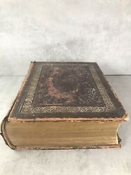 Antique Holy Bible 1870 Large Format Victorian Bible 13 Inches And Curiosities