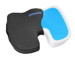 Plixio Cooling Gel Seat Cushion Memory Foam Coccyx Car And Chair Pillow Orthopedic