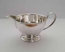 Silver Cream Jug. Hallmarked Sheffield 1963. Cooper Brothers And Sons.