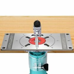 Router Table Insert Plate Aluminium Woodworking Carpenter Trimming Engrave Board