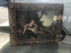 Signed Antique French Oil Painting On Canvas1933