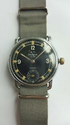 Wwii 40s Helvetia Czech Military Style Sub-second Watch 40mm Diameter