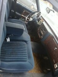 90 91 92 Cadillac Brougham Front And Rear Blue Cloth Seats