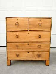 Antique C.1850s Colonial Campaign Camphorwood Stacking Chest Of Drawers Dresser