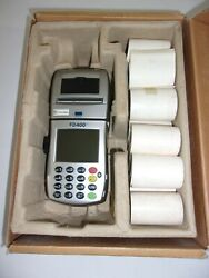 First Data Fd-400ti Wireless Credit Card Reader Terminal Thermal Paper Rolls