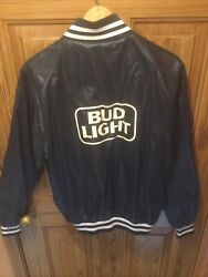Vintage 1980's Bud Light Anheuser Bush A And Eagle Collection Jacket Size Xlrare