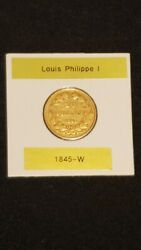 1845-w France 20 Francs Gold Coin Louis-philippe I