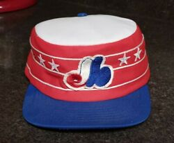 Nice Original 1970s Montreal Expos Conductor Style Baseball Hat Made By Beco