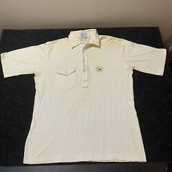 Vintage 70's Anheuser Busch pickering Polo Shirt Golf Usa Made Men's Size L