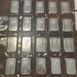 2 Sunshine Mint 1oz Silver Bars Bullion .999 Pure Silver Two One Ounce - Sealed