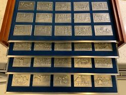 Franklin Mint Pewter Ingot Collection The History Of The United States