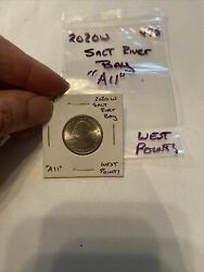 """2020 W West Point Salt River Bay America The Beautiful Quarter """"a11""""uncirculated"""