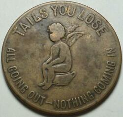 Heads I Win-tails You Loose Storecard Cascarets Best For The Bowels Potty Token