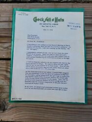 Jackie Robinson 1958 Presidential Letter Chock Full O Nuts