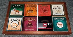 Vintage Camel Exotic Blends Tin Cigarette Containers In Custom Display Case