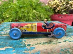 Vintage Old Rare Car Retro Mechanical Windup Ai Toys Made In Japan Working