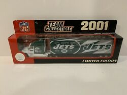 2001 New York Ny Jets Nfl Licensed Tractor Trailer Limited Edition Fleer New