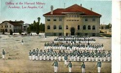 Drilling At The Harvard Military Academy, Los Angeles, California