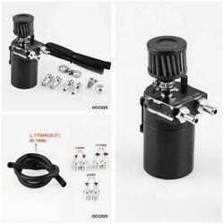 Aluminum Oil Catch Can Reservoir Tank Black Polish Baffled With Filter Universal