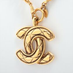 Coco Mark Necklace Gold Plated Gold Vintage