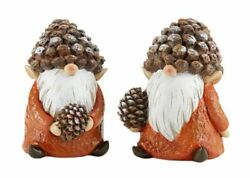 Fairy Gnome Garden Fall/harvest 5 Pine Cone Hat Gnomes - Set/2 - Buy 3 Save 5