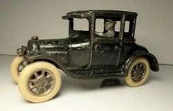 1920s Cast Iron Arcade Two Door Black Model A Ford Coupe 6 3/4 Hubley