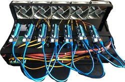 Mining Rig Kit Open Air Case 8 Slot Psu Cpu Window / Hive Os Plug And Play
