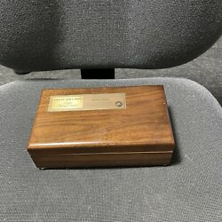 Vintage Delta Air Lines Order Of The Flying Orchid Wooden Trinket Box W/ Mirror