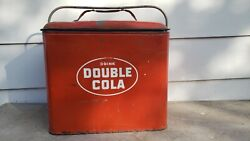 Vintage Advertising Double Cola Drink Soda Pop Picnic Ice Chest Cooler Sign