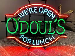 O'doul's Beer Neon Sign Lunch Anheuser Busch Odouls New Transformer Everbrite