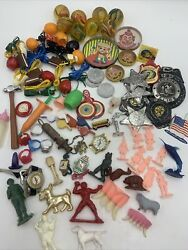 1960's Vintage Gumball Game Prize Cracker Jack Toys Lg Mixed Lot Bouncy Balls ++