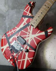Evh Striped Series 5150 Electric Guitar - Red/black/white Stripes From Japan