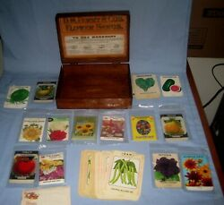 D.m. Ferry And Co's Flower Seeds Store Display Wood Box And Seed Packages