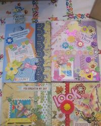 Lot Of 4 Junk Journal Diary Blank Composition Note Books Back To School