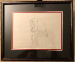 1937 Snow White And The Seven Dwarfs Old Hag With Apple Animation Drawing Disney