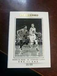 2014-15 Preferred Jumbo Jersey Booklet Stephen Curry Derrick Rose One On One /99